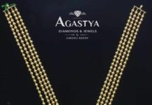 gold balls necklace with diamond pendant