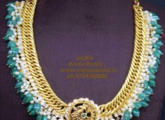 jilebi chain necklace, 22k gold links chain