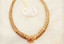 kante necklace with lakshmi pendant