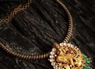 kante necklace with lakshmi pendant (1)