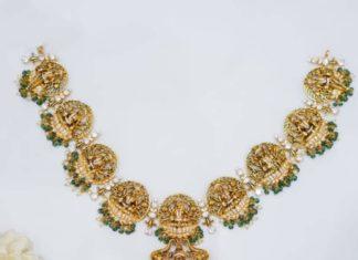 lakshmi temple necklace manjula jewels