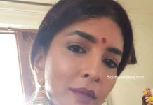 lakshmi manchu traditional gold choker and jhumkas