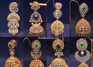 latest diamond jhumki designs 2020