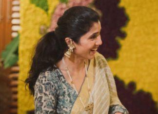 malavika daggubati in pearl haar and jhumkas