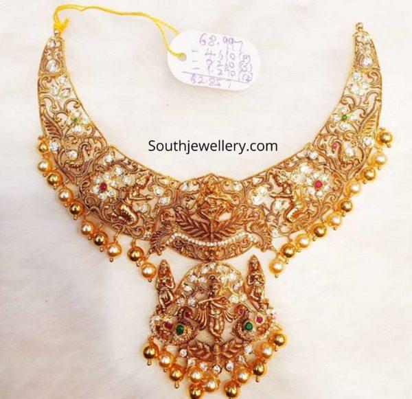 nakshi temple necklace designs 2020 (3)