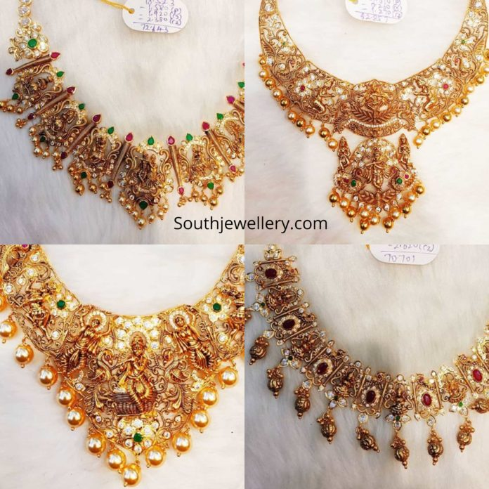 nakshi temple necklace designs 2020