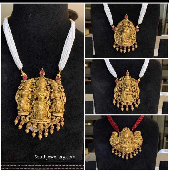 nakshi temple pendants 22 k gold