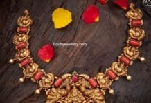 peacock lakshmi necklace
