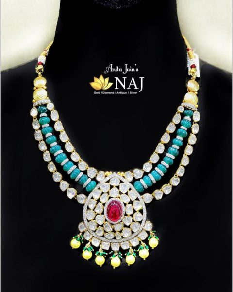 polki diamond necklace (2)