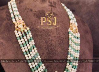 south sea pearl and emerald beads haram