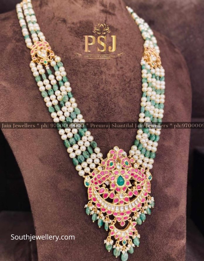 south sea pearl and emerald beads haram