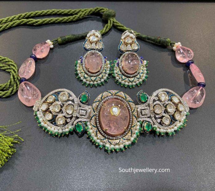 tanzanite beads choker