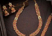 antique gold gajjalu necklace set