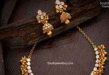 antique gold polki necklace