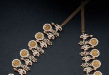 closed setting diamond bottu mala