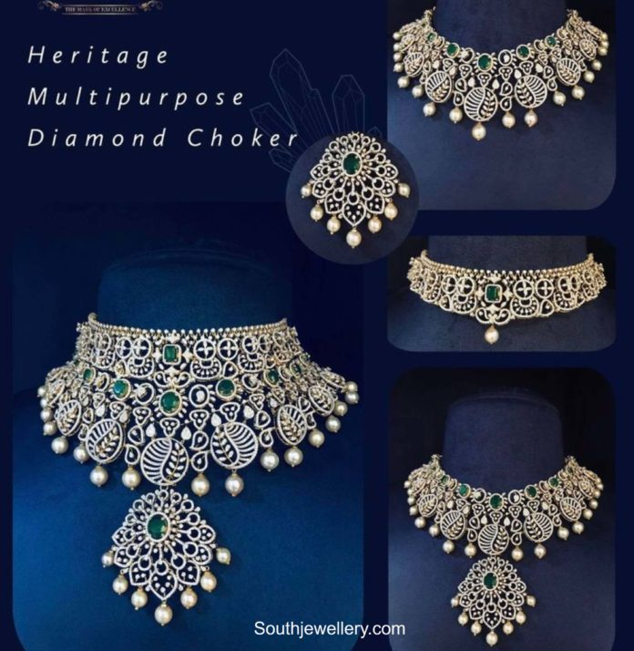 detachable multi purpose diamond choker