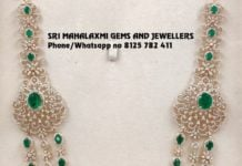 diamond emerald layered necklace