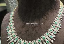 diamond emerald necklace parnicaa