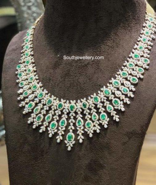 diamond emerald necklace parnicaa