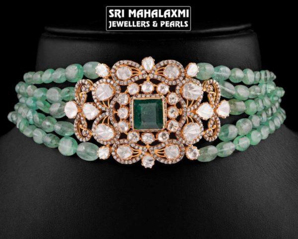 emerald beads choker (2)
