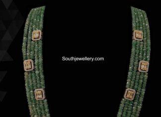 emerald beads mala seeta jewellers