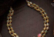 emerald bnd burmese ruby necklace