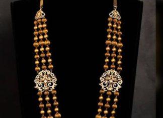 gold balls haram with elephant pendant