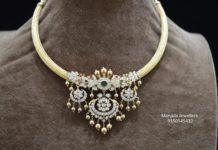 kante necklace with diamond pendant