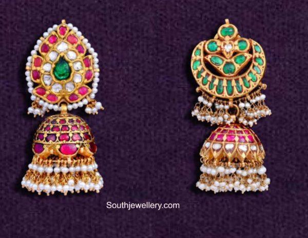 kundan jhumki designs (1)