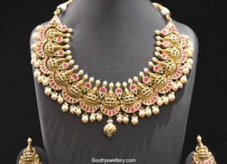 lakshmi kundan necklace