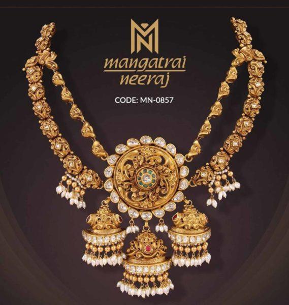 layered nashi gold necklace