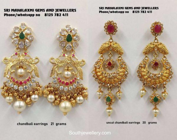 light weight gold chandbali designs (1)