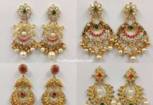 light weight gold chandbali designs