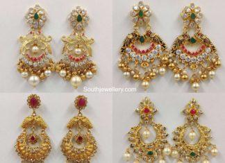 light weight gold chandbali designs