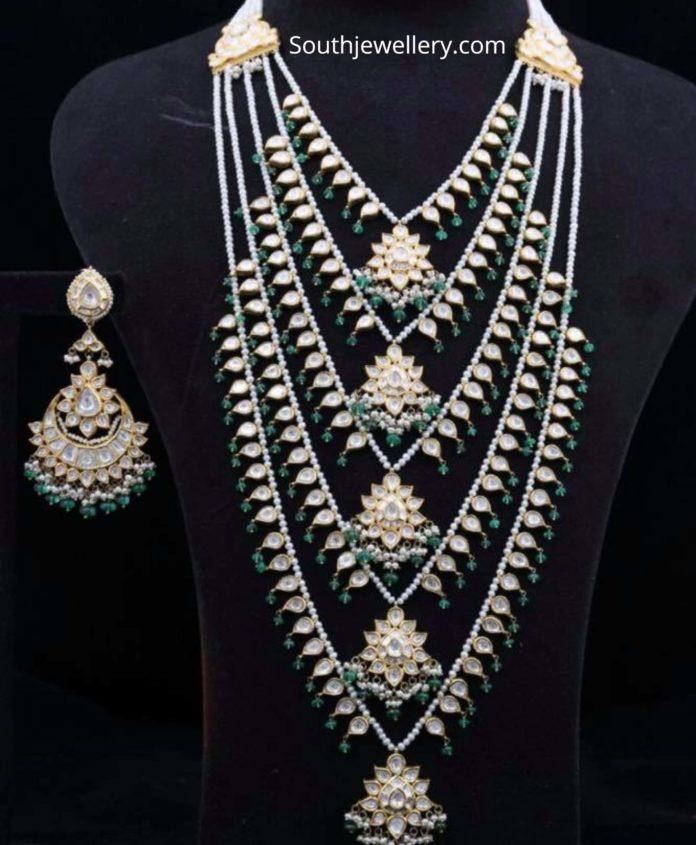 panchlada haram and earrings