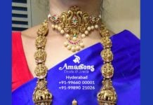 peacock choker and lakshmi haram