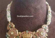 pearl necklace with kundan pendant agastya diamonds