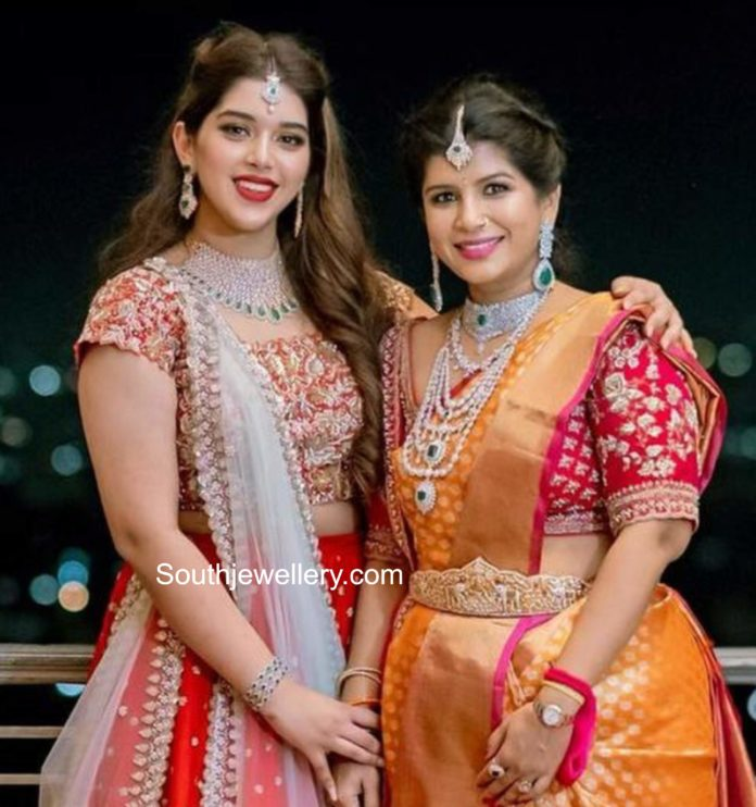 producer nikitha reddy and her daughter aadya jewellery