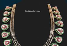 ruby emerald diamond necklace
