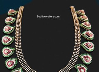 ruby emerald diamond necklace