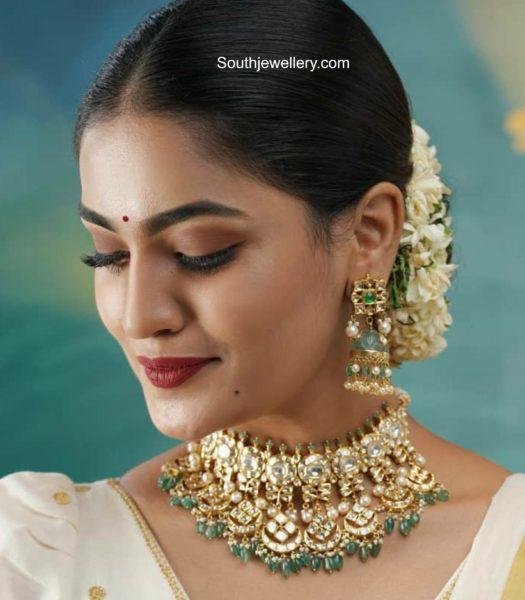 saniya iyappan uncut diamond choker