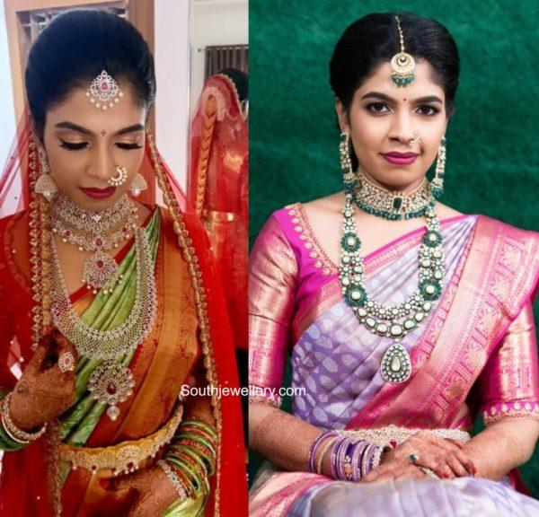 south indian bride in hiya designer jewellery