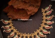 traditional kundan mango necklace