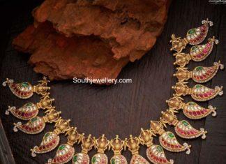 traditional kundan mango necklace