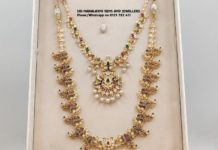 uncut diamond gold necklace and haram set