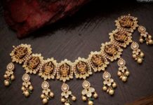 uncut diamond lakshmi necklace (1)