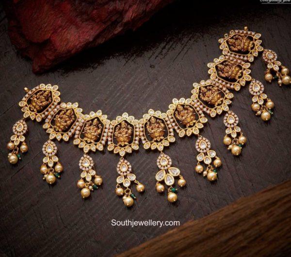 uncut diamond lakshmi necklace (1)