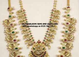 uncut diamond necklace and haram