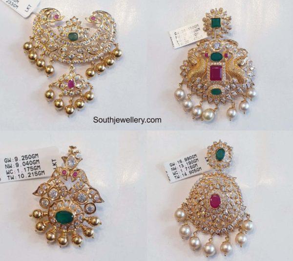 uncut diamond pachi pendants