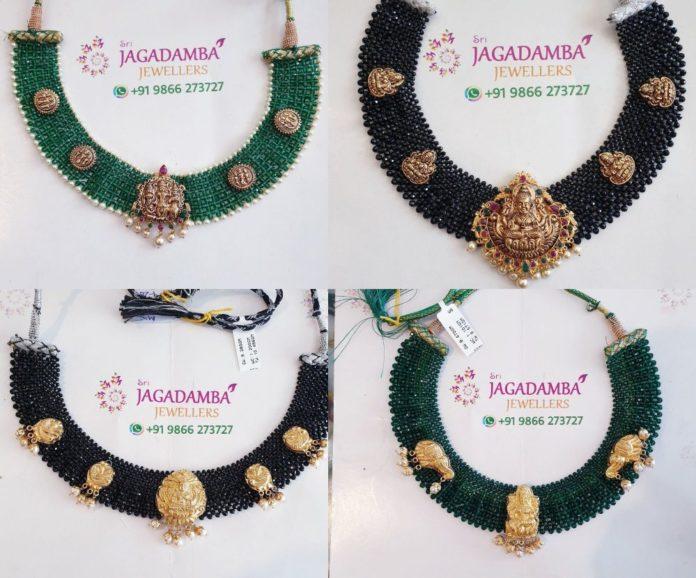 22k gold jaal necklace designs